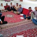 مراسم جزء خوانی قرآن در ماه مبارک رمضان در محل مسجد چهادره معصوم بیلند