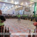 اجرای ورزش باستانی توسط ورزشکاران زورخانه های گناباد در بیلند به مناسبت عید غدیر
