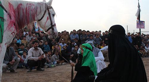 مراسم تعزیه خوانی روستای بیلند برگزار شد + تصاویر