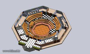 ساختمان گود باستانی مجموعه ورزشی ایثارگران بیلند