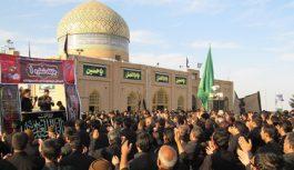 عزاداری هیات های بیلند در جوار آرمگاه امامزاده سلطان محمد عابد کاخک(11 محرم)