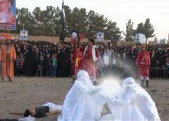 فیلم مراسم تعزیه خوانی امام حسین(ع) دهستان بیلند