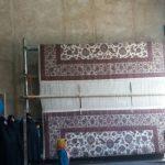پایان بافت فرش ۲۴ متری توسط بانوان خیر شهرک آیت الله مدنی جهت اهدا به حسینیه این شهرک