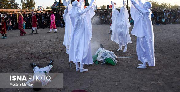 تصاویر مراسم تعزیه خوانی بیلند در وب سایت های خبری ایسنا و فارس+گزارش صدا و سیما و گزارش کامل