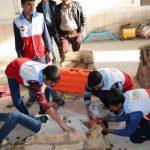 برگزاری مانور زلزله در دبیرستان خوارزمی بیلند