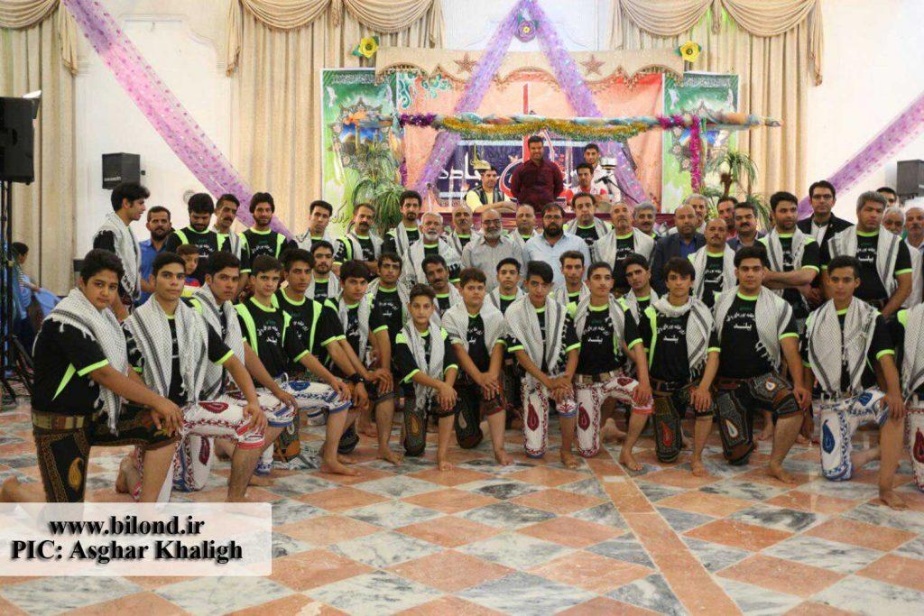 گردهمایی ورزشکاران زورخانه های شهرستان در بیلند به مناسبت عید غدیر